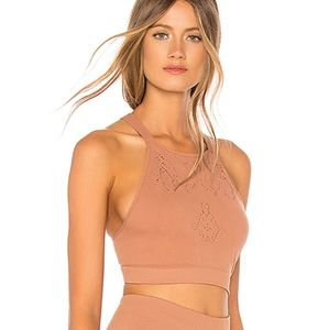 FP Movement Brown Nikki Femme Crop Top Bra XS/S